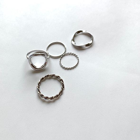 SET RING _Circle Silver_sp271