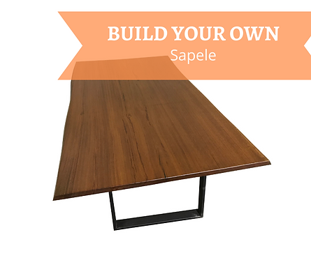 CUSTOM, Build your Own Sapele Dining Table