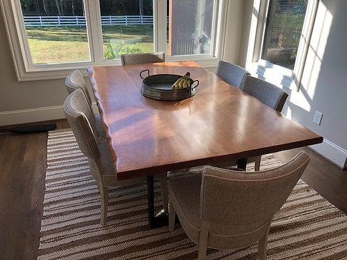Cherry Live Edge Dining Table
