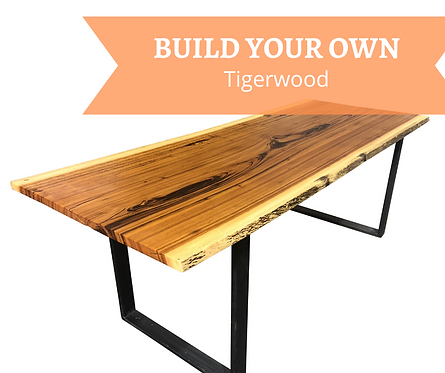 CUSTOM, Build your Own Tigerwood Dining Table