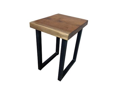 Live Edge Walnut Side Table