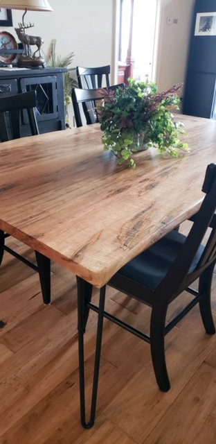 Ambrosia Maple Live Edge Dining Table