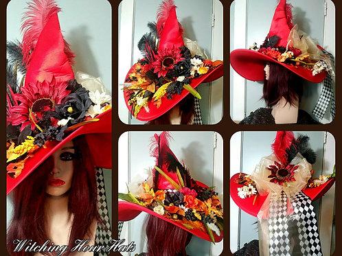 Goddess Autumnus Large Brimmed, Witch Hat