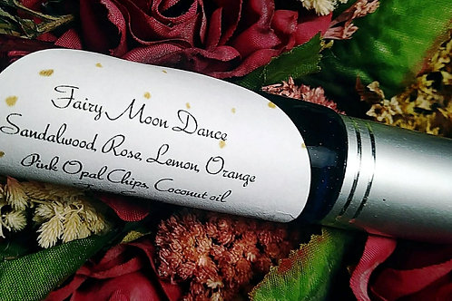 Fairy Moon Dance Perfume Roll-on with Pink Opal Chips ~ 10 ML