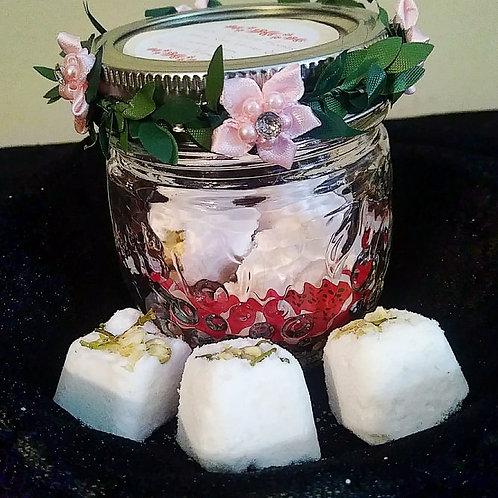 Fairy Mini Bath Bombs ~ 7 in a decorative jar