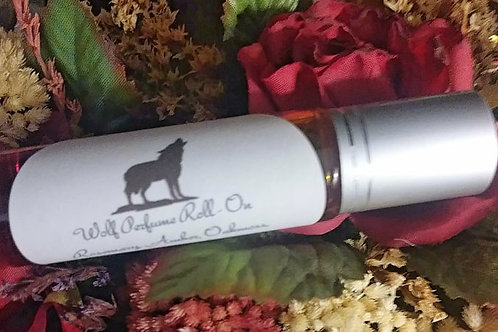 Wolf Perfume Roll-On 10 ML with Howlite Chips
