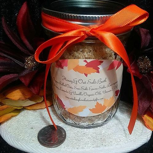 Honey & Oats Salt Bath ~ 10 ounces