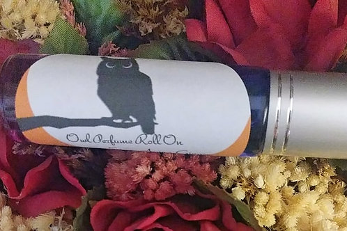 Owl Perfume Roll-On 10 ML with Moonstone & Labradorite chips