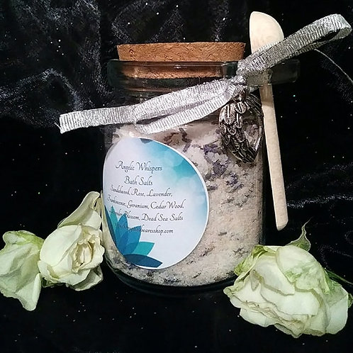 Angelic Whispers Bath Salts with Bath Tea Bags ~ 6 ounces