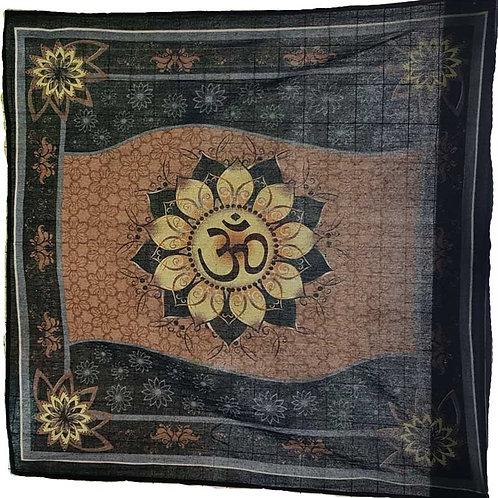 "Om Lotus Altar Cloth ~ 36"" x 36"""