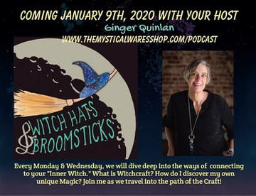 Join me for Witch Hats & Broomsticks Podcast~ Coming January 9th, 2020