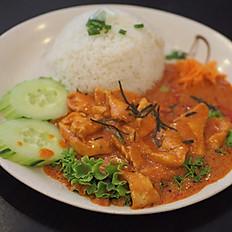 THc - Riz aux crevettes curry thaï