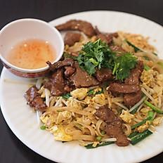 """P1b - Pâtes de riz sautées au bœuf à la façon """"Thaï"""""""