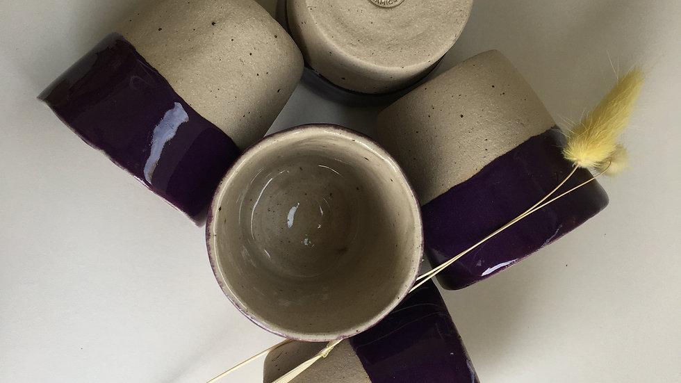 Purple Flecked Glaze Coffee Mug