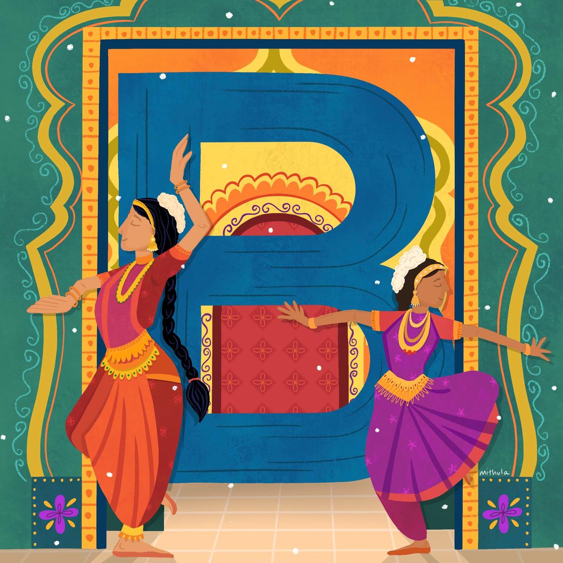 B for Bharathanatyam
