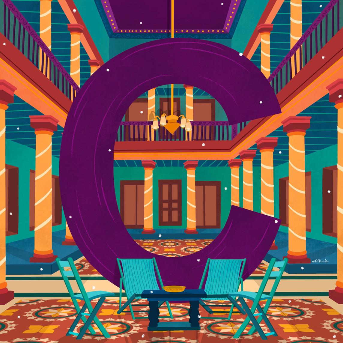 C for Chettinad Palace