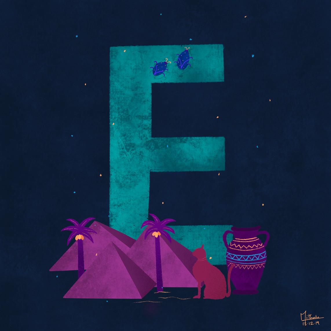 E for Egypt