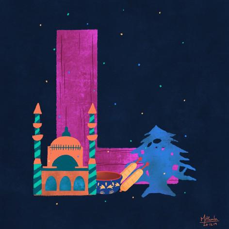 L for Lebanon