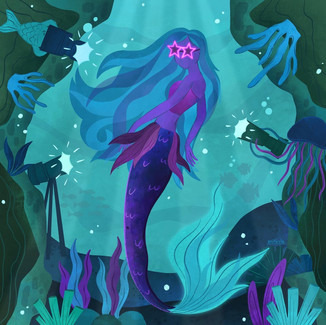 A celebrity mermaid