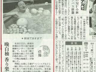 「読売新聞」に世界一の晩白柚風呂が掲載されました!