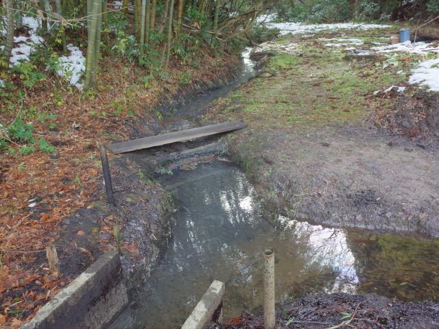 石油が湧き出る川