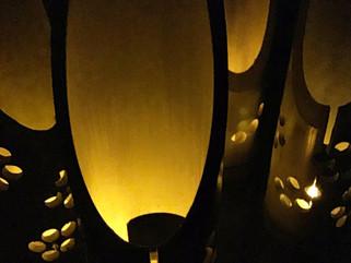 竹キャンドル風呂開催中