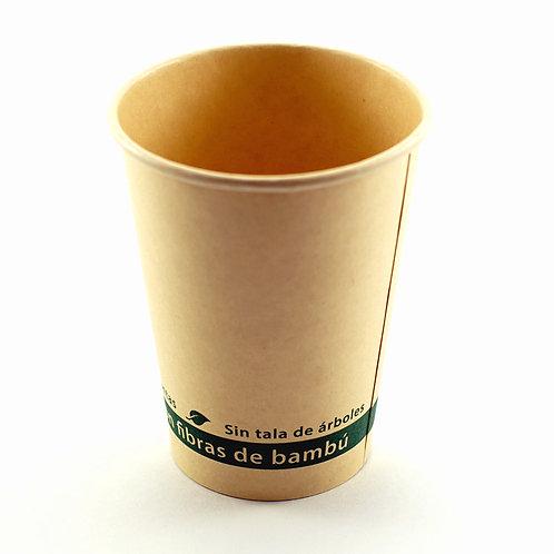 Vaso biodegradable de bambú