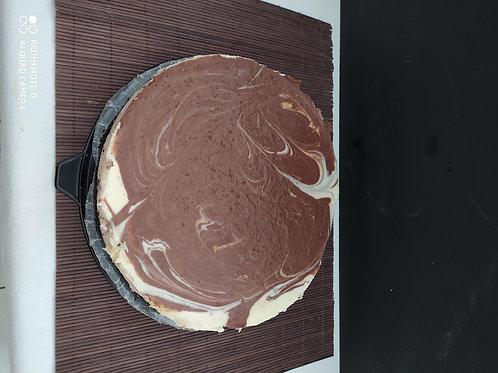 Cheesecake de Chocolate Blanco y Oscuro