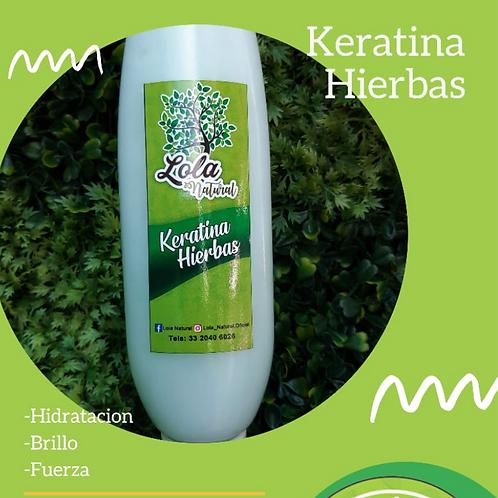 Keratina Hierbas  150 gm.