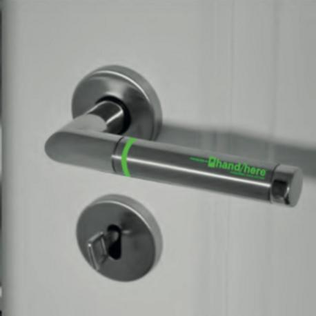 Antimicrobial door handle/shopping cart handle