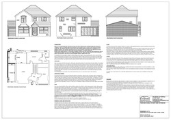 Proposed floor plans and elevations