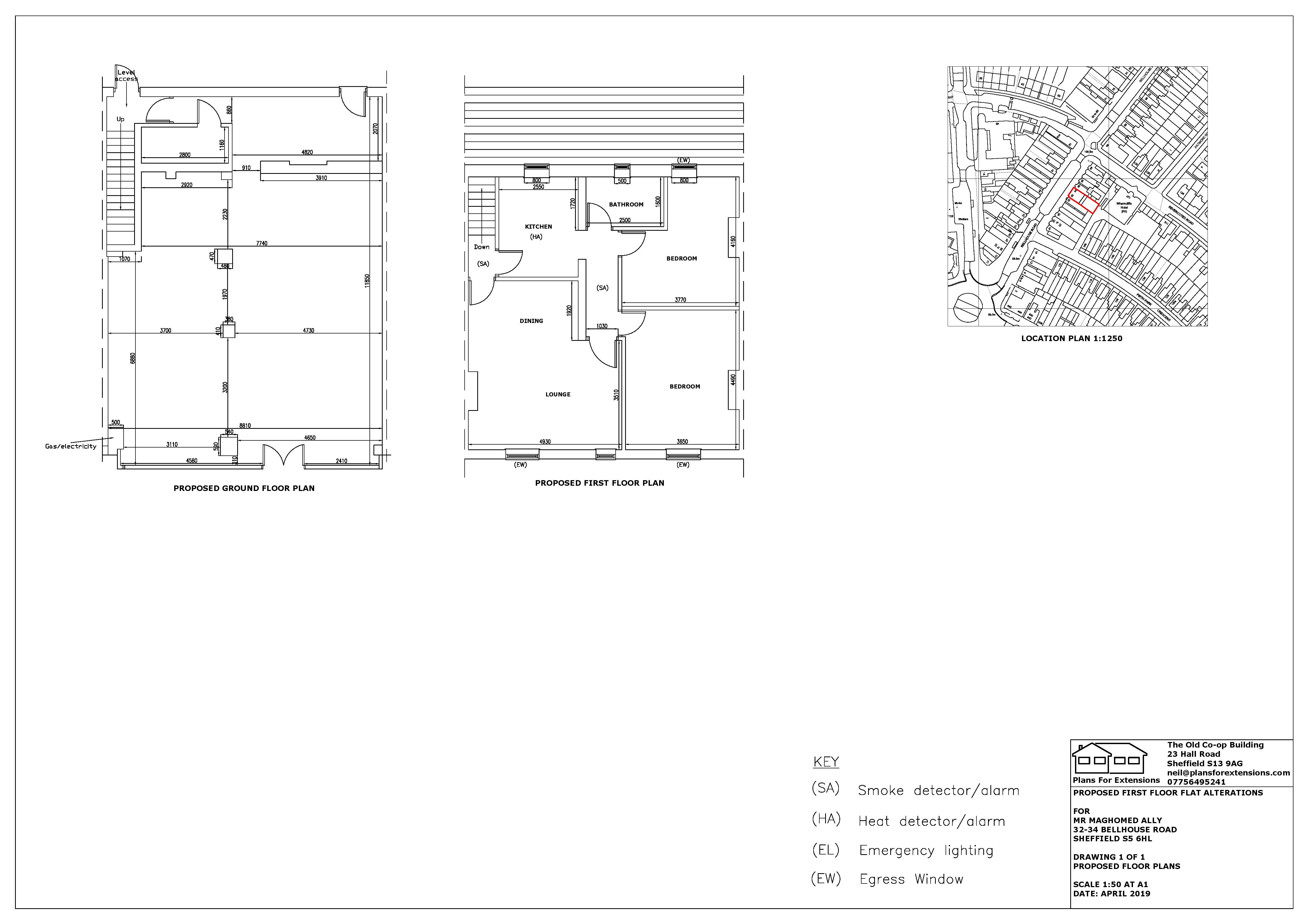 32-34 Bellhouse Road Proposed ground and
