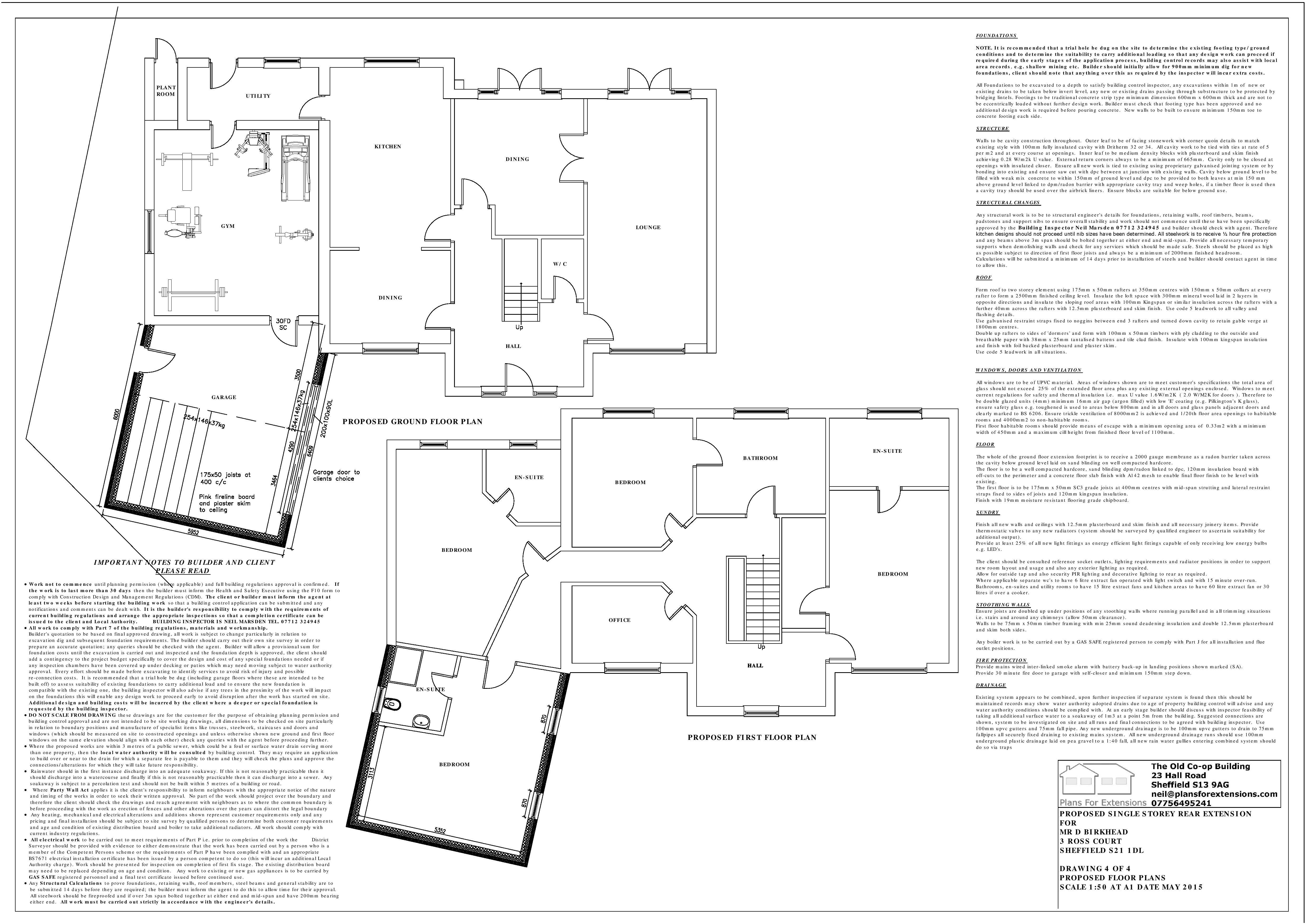 Plans - Proposed Floor Plans