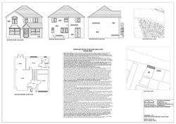 Existing floor plans and elevations