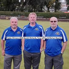 Triples Winners 2020 Gareth Richards, Tony Jeffrey & Martyn Reynish