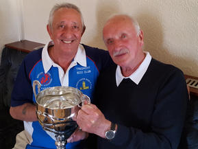 Paul Pumford & Doug Dayment with John Dayment Cup 2019