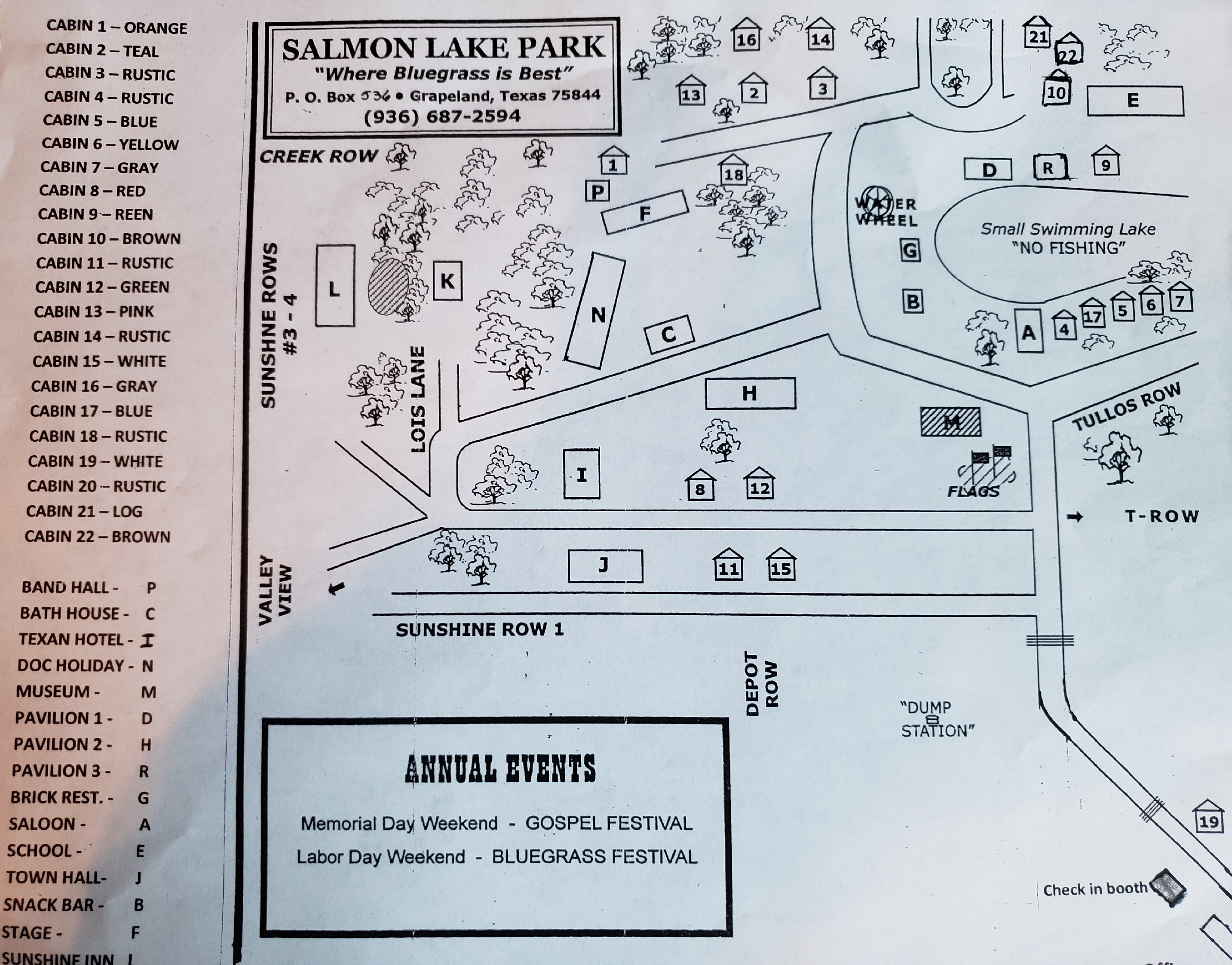 Map of Salmon Lake Park