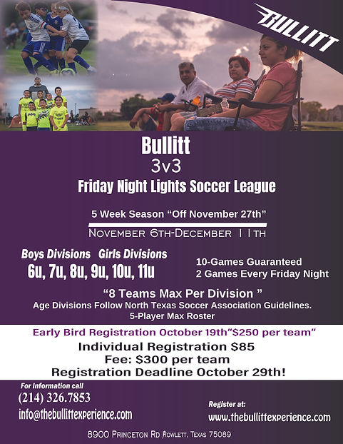 friday night lights soccer league, flyer