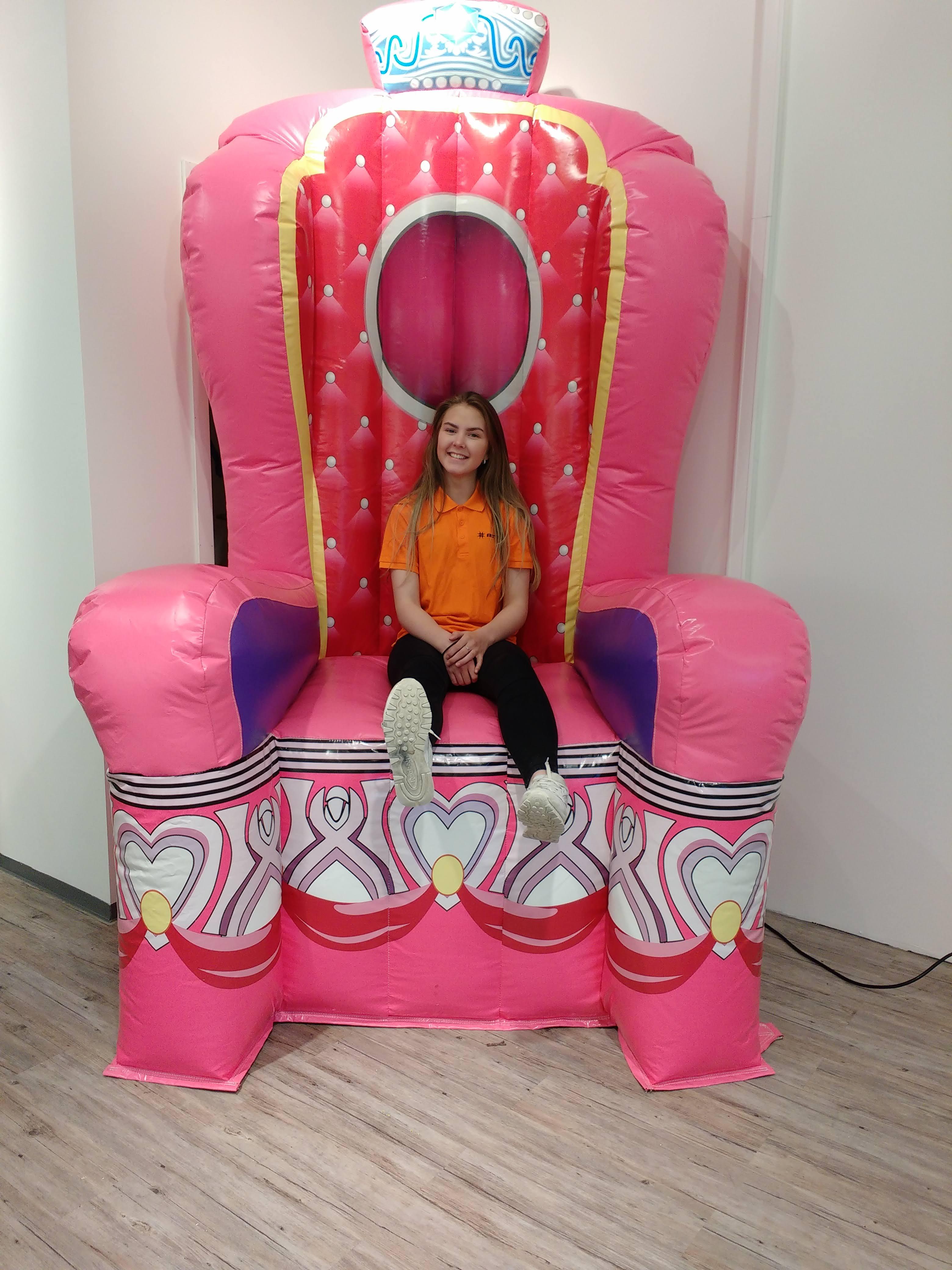 Stor prinsessestol