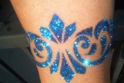 Glitter-tatovering