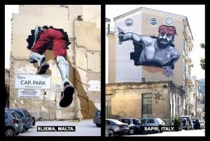 Malta i Italija Mural