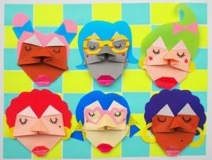 origami lica