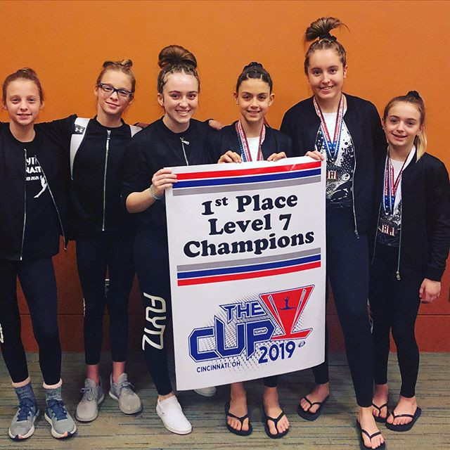 Level 7 team CHAMPIONS at The Cup! Congr