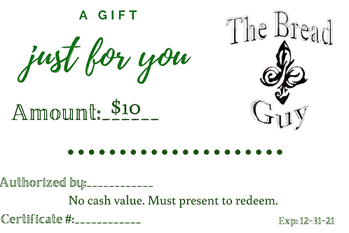 The Bread Guy Gift Card