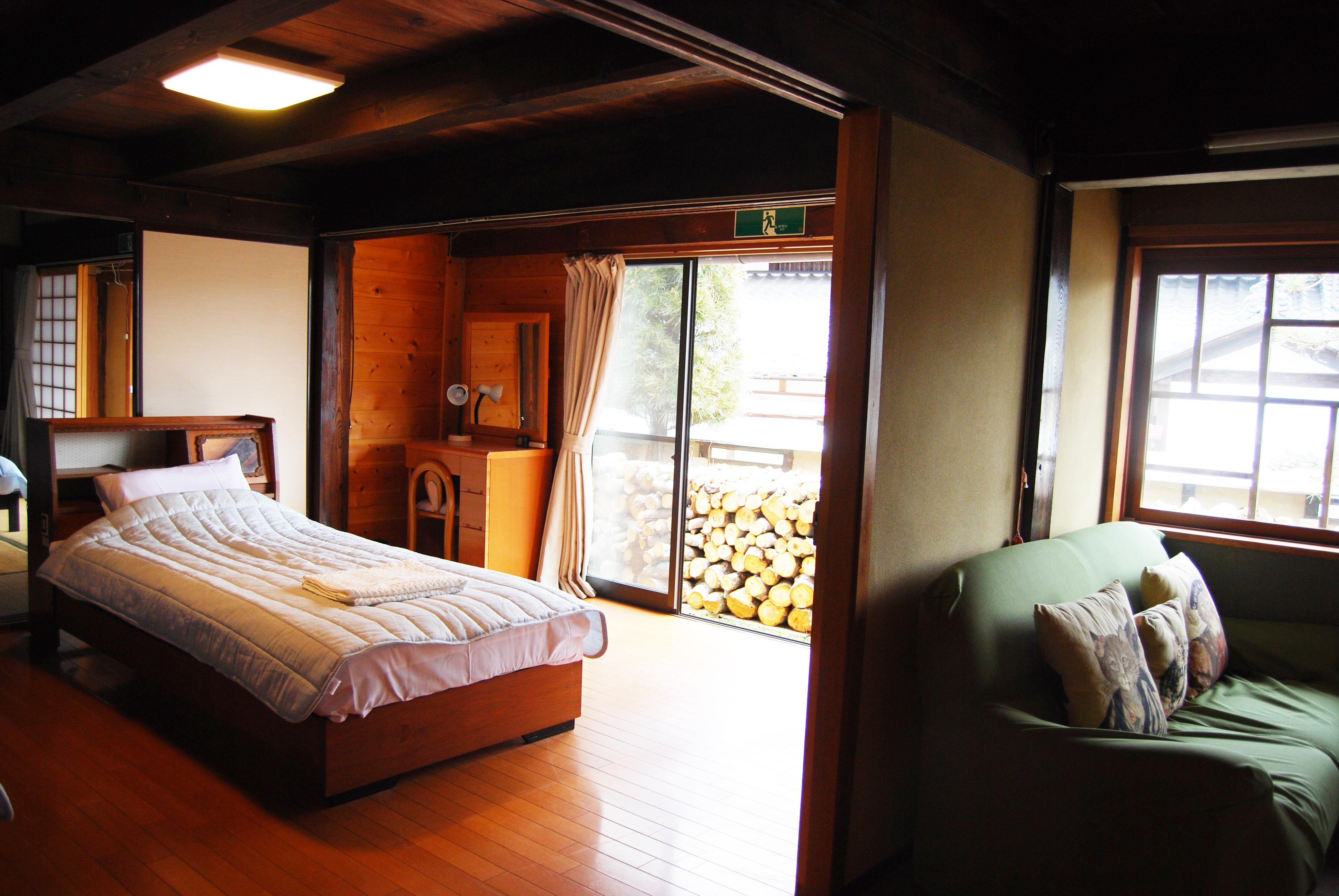 つづねの森ゲストハウス 寝室