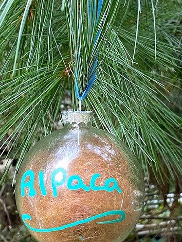 Alpaca Fiber filled Christmas Ornament