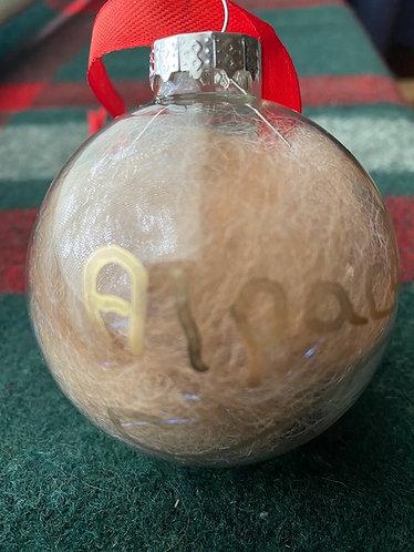 Alpaca Fiber Christmas Ornament