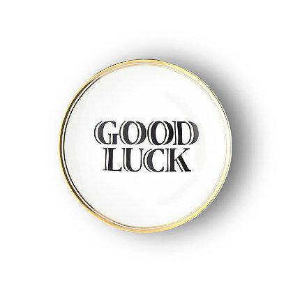 "Piattino ""Good Luck"""