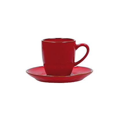 Tazza Caffè con piattino Concerto - Rosso