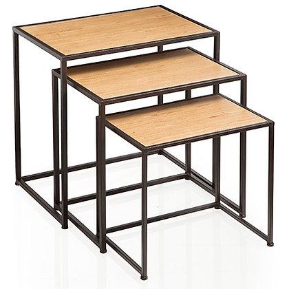 Tavolino in Legno e Ferro - Grande
